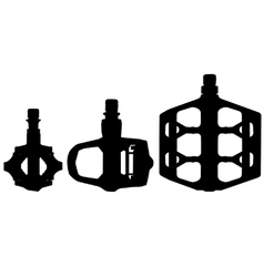 Bicycle pedal silhouettes vector image