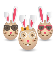 Easter bunny eggs vector image vector image