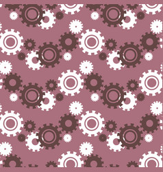 Ongoing pattern with green gears creative vector