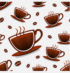 seamless background of coffee vector image vector image