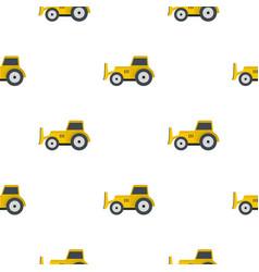 Skid steer loader pattern flat vector