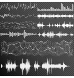 Sound waves set EPS 10 vector image