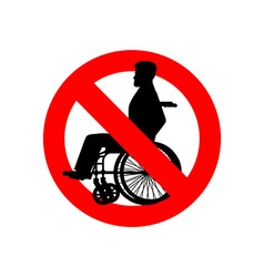 Stop disabled Prohibited person on wheelchair Ban vector image vector image
