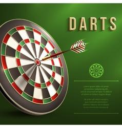 Darts board background vector image vector image