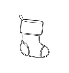 figure christmas boots icon vector image vector image