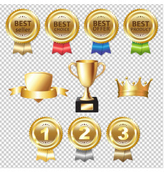 golden awards vector image