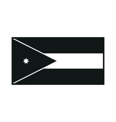 Jordan flag monochrome on white background vector image vector image