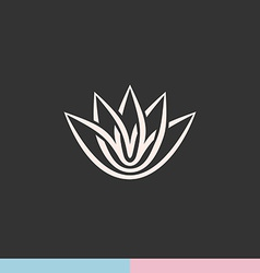 Lotus flower silhouette logo vector image
