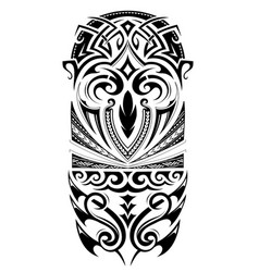 Sleeve size tattoo ornament vector