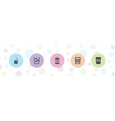 5 delete icons vector