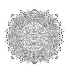 adult coloring book page with round pattern vector image