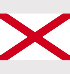 Alabaman state flag vector