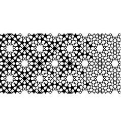 Arabesque black and white border geometric vector