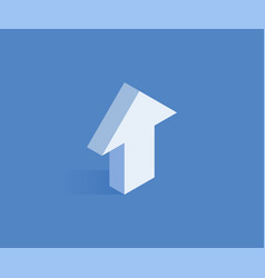 arrow up isometric icon vector image