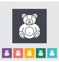 bear toy icon vector image