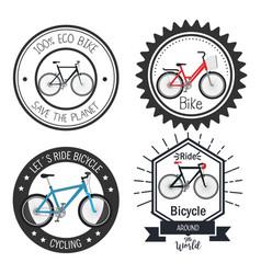 bicycle adventure seal icon vector image