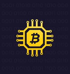 bitcoin cryptocurrency and blockchain vector image