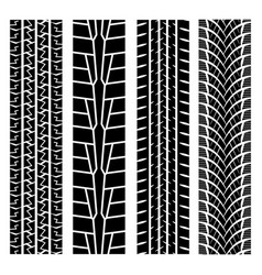Black tire track set 2 vector