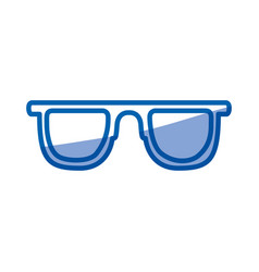 blue shading silhouette of sunglasses icon vector image
