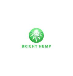 bright hemp logo design vector image
