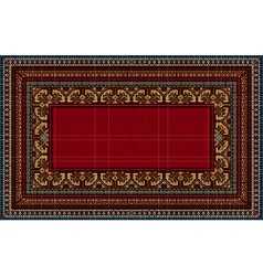 Bright pattern of the carpet with motley border vector