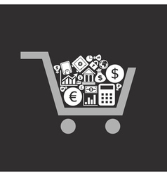 Business a cart vector image