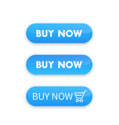 buy now blue buttons for web design vector image