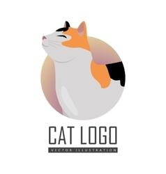 Calico Cat Flat Design vector