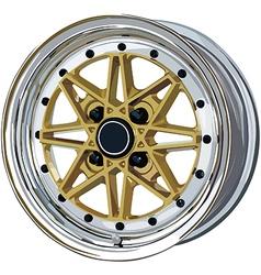 Car rim vector image