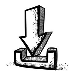 cartoon image of torrent icon arrow symbol vector image