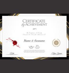 certificate or diploma modern design elegant vector image