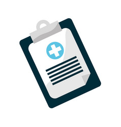 Clipboard hospital prescription pad icon vector
