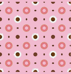 coffee drinking seamless pattern vector image