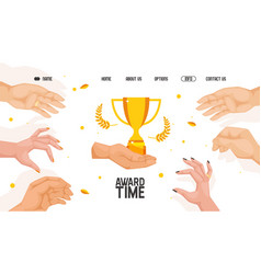 Competition award website vector