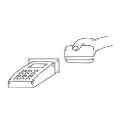 Credit card payment vector