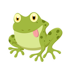 Cute frog cartoon vector