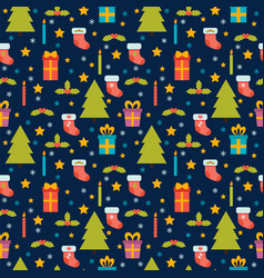 cute seamless pattern holidays background vector image
