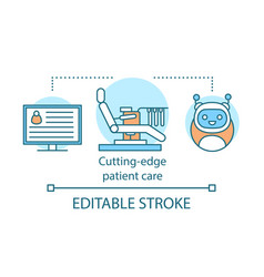 cutting edge patient care concept icon vector image