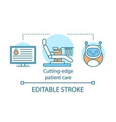Cutting edge patient care concept icon vector
