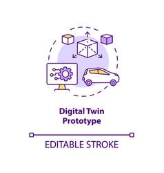 digital twin prototype concept icon vector image