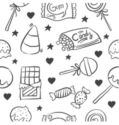 Doodle of candy hand draw collection style vector