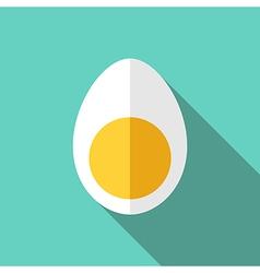 egg cut in half vector image