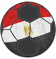 Egypt flag with soccer ball background vector