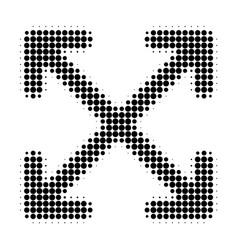 Enlarge arrows halftone dotted icon vector
