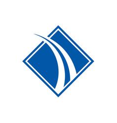 faster future logo template icon design vector image