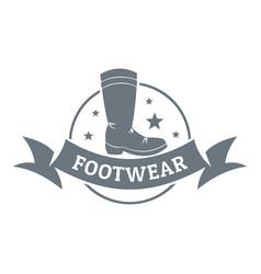 Footwear logo vintage style vector
