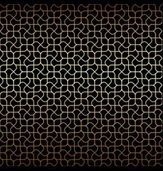golden art deco linear seamless pattern vector image