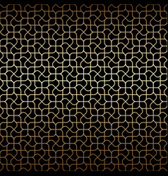 Golden art deco linear seamless pattern with vector