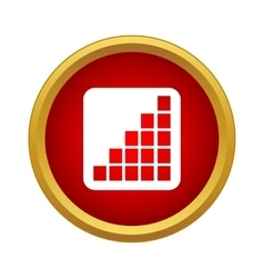 Growth graph icon in simple style vector image