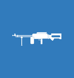 Icon military heavy machine gun vector